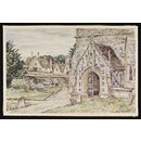 Church Porch and Manor, Avebury (Watercolour)