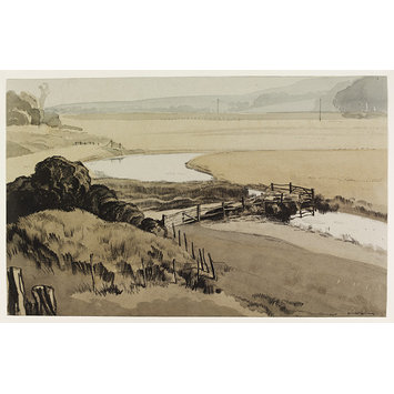 Drawing - The Cuckmere at Litlington