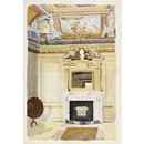Interior of The Temple, Rievaulx Terrace, Yorkshire (Watercolour)