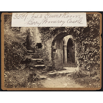 Photograph - Ent. to Guard Room.  Berry Pomeroy Castle