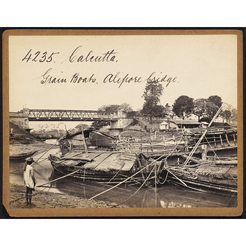 Photograph - Calcutta.  Grain Boats.  Alipore bridge