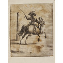 Horseman riding a volte (after Philips Wouwerman) (Drawing)