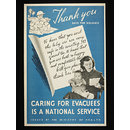 Caring for Evacuees is National Service (Poster)