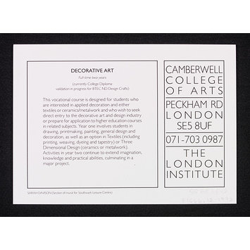 Print - Set of postcards (12) for Degree Diploma Shows at  Camberwell