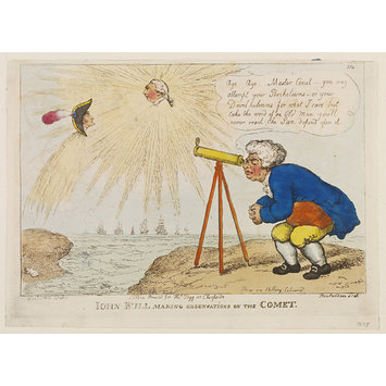 Print - John Bull Making Observations on the Comet