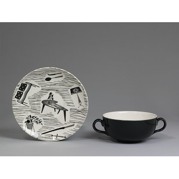 Soup bowl and saucer - u0027Homemakeru0027 Tableware. u0027  sc 1 st  Vu0026A Search the Collections & Homemakeru0027 Tableware | Seeney Enid | Vu0026A Search the Collections