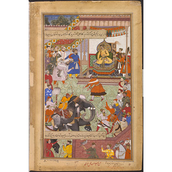 Painting - Mu'nim Khan and Khwaja Jahan
