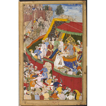 Painting - Rai Surjan Hada making Submission to Akbar