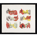 Six reclining figures (Print)