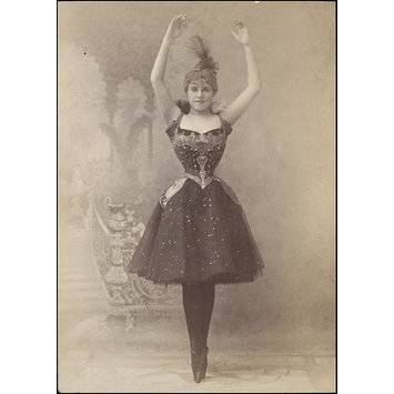 Photograph - Letty Lind as Columbine, Drury Lane Theatre, 17 March 1898