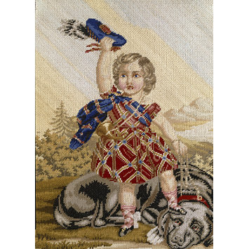Embroidered picture - Edward VII as a child