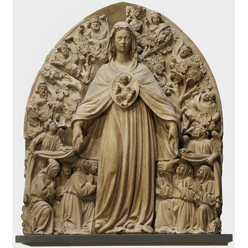 Relief - Virgin and Child with kneeling members of the Guild of the Misericordia