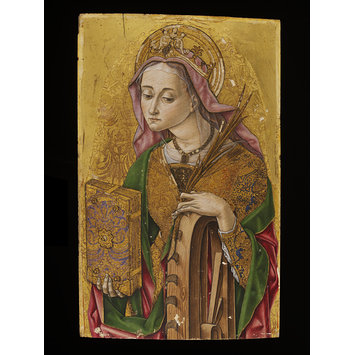 Panel from an altar piece - St Catherine of Alexandria