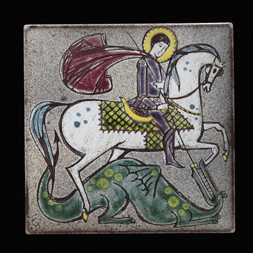 Tile - St George and the Dragon