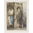 West Porch of the Church of St. Vincent, Rouen (Watercolour)