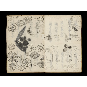 Album page - Kuniyoshi's preparatory drawings, no.39