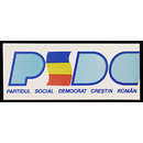 PSDC. Romanian Christian Social Democrat Party (Poster)