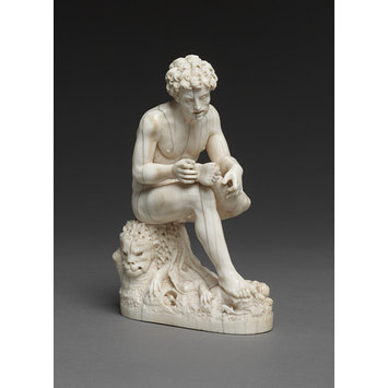 Statuette - Hercules plucking a thorn from his foot