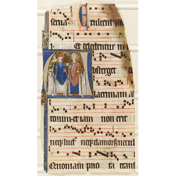 Manuscript - Fragment of a leaf from the Beaupre-lez-Grammont Antiphoner