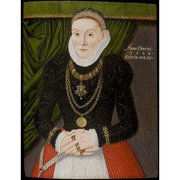 Oil painting - A Lady aged 29 in 1582