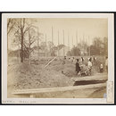 1862 International Exhibition, South Kensington, view of foundations under construction (Photograph)