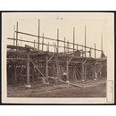 Exterior view of the Refreshment Rooms of the South Kensington Museum under construction (Photograph)
