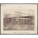 Exterior view of the South Kensington Museum (the 'Brompton Boilers') under construction (Photograph)