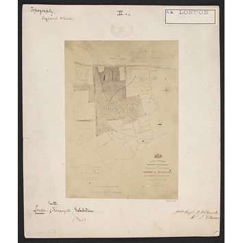 Photograph - Plan of the parishes of Kensington and St. Margarets, Westminster