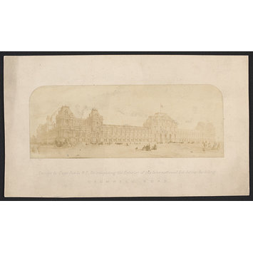 Photograph - Design by Captain Fowke for exterior of International Exhibition building
