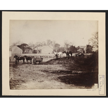 Photograph - 1862 International Exhibition, South Kensington, Carting gravel for concrete, 26 April 1861