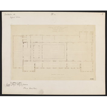 Photograph - Royal College of Science:  second floor plan, South Kensington