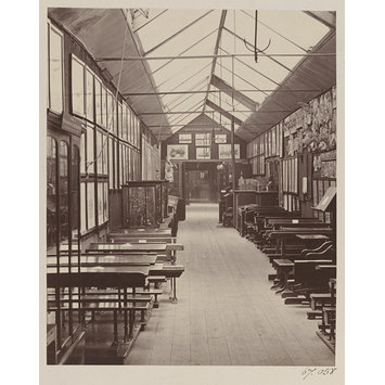 Photograph   South Kensington Museum, Educational Collection(?), Showing  School Furniture And