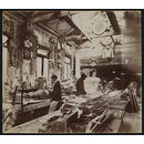 Interor view of fibrous plaster casting workshop of Tanner & Sons, Liverpool (Photograph)