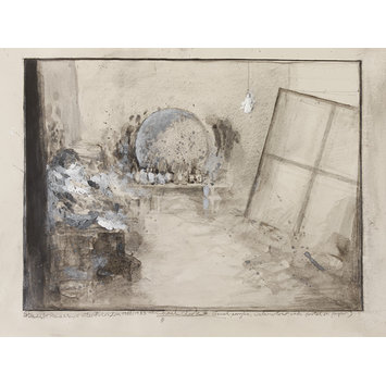 Drawing - Study for Reece Mews Interior (Francis Bacon's Studio)