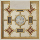 Ceiling decoration of a library at 31 Hill Street, London (Drawing)