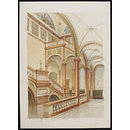 Decoration of the staircase at the Institution of Civil Engineers (Drawing)