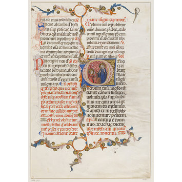 Manuscript cutting - Leaf for the feast of the Annunciation from a Missal