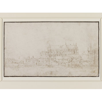 Drawing - Westminster Abbey and Parliament House, from the Thames