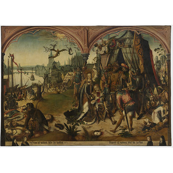 Oil painting - The Martyrdom of St. Ursula and the 11,000 Virgins