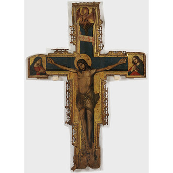 Painting - Painted Crucifix