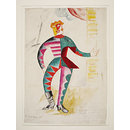 Design for the costume of the Chief Clown (Le Buffoon) in the ballet <i>Chout</i> (Design)