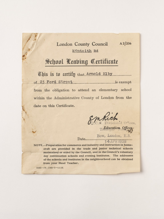 School Leaving Certificate | London County Council | V&A Search