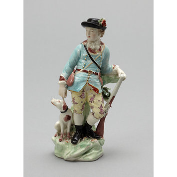 Figure - Sportsman with gun and dog