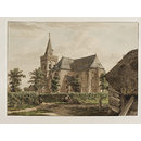 View of the Oude Kerk at Ede in Gelderland (Watercolour)
