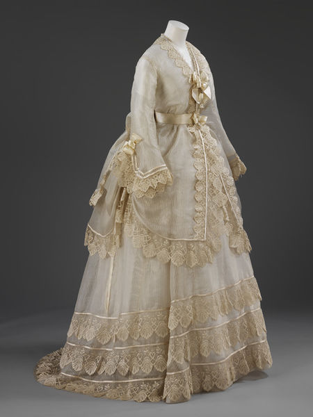 Wedding dress v a search the collections for 19th century wedding dresses