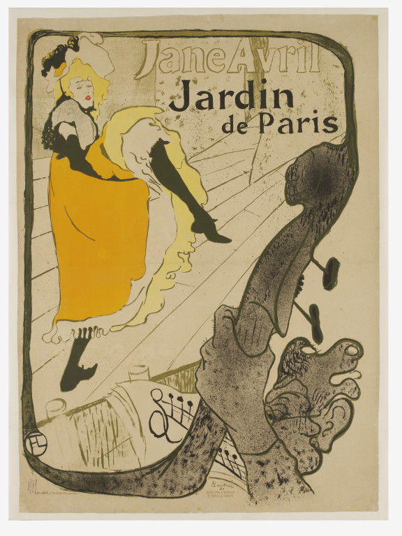 Jane avril au jardin de paris toulouse lautrec henri de for Au jardin paris