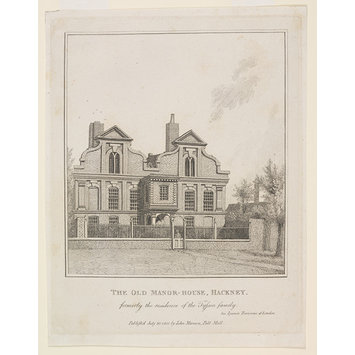 Print - The Old Manor House, Hackney, formerly the residence of the Tyssen family