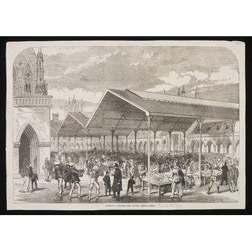 Print - Opening of Columbia Fish Market, Bethnal Green