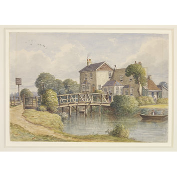 Watercolour - The White House, Hackney Marsh