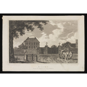 Print - Baums, Formerly the Residence of Sir George Whitmore, Hoxton